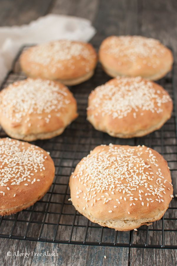 Soft and fluffy Gluten Free Hamburger Buns Recipe. These are so easy to make - you won't believe it!