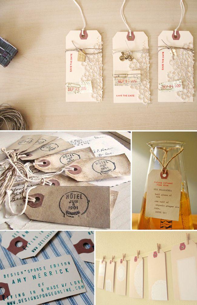 印刷物:マニラ送料タグへのオード - コレクションイベントスタジオ - コレクション - ベンダー&舞台の精選されたコレクションを展示ワインカントリーの結婚式&Event Studioの