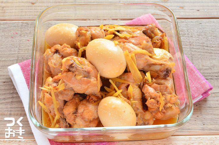 温めなおしてもお肉がやわらかい定番おかず。生姜もよく煮込まれているので、たまごや手羽元と一緒に食べてみて下さいね。