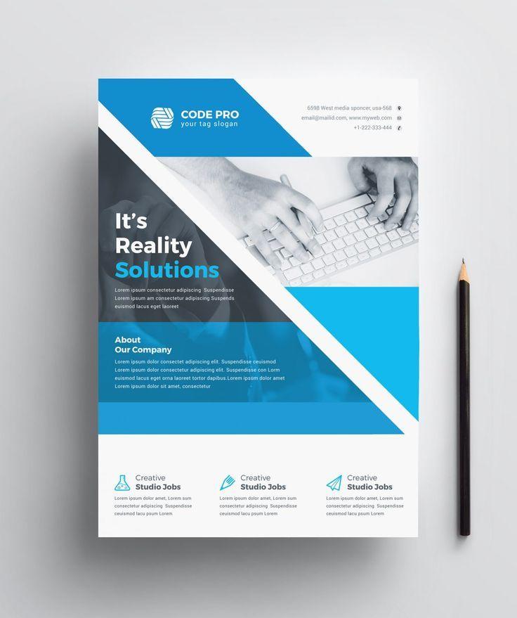 Diseño versátil de folletos de negocios corporativos 002213   – Flyers