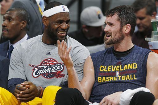 LeBron James Jokes That He Would Vote Kevin Love for MVP