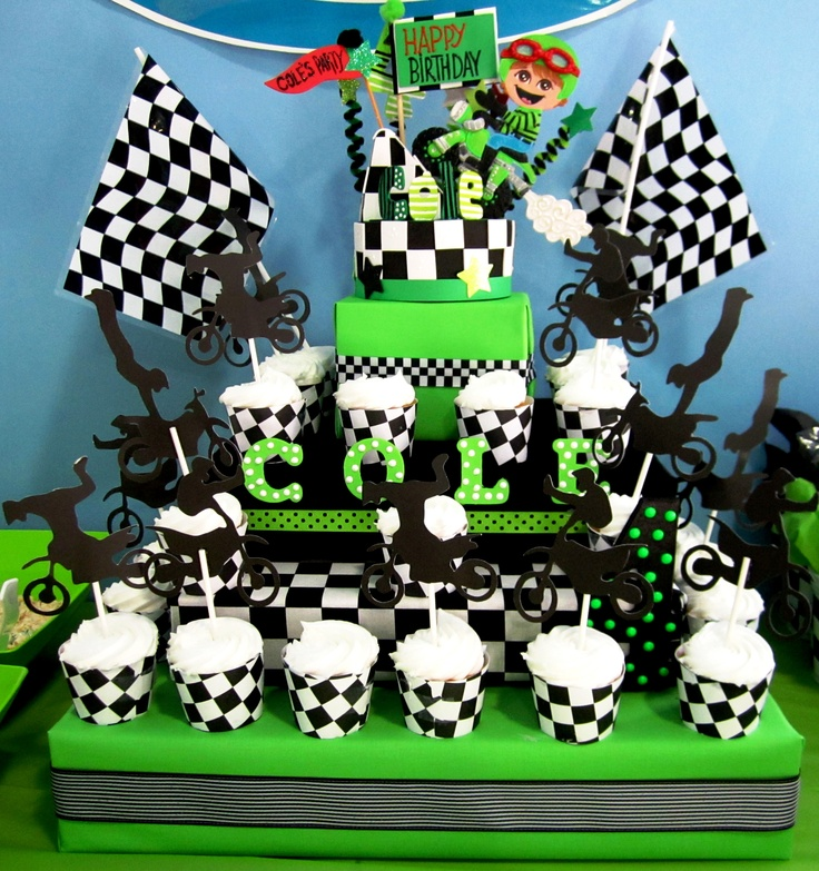 Motorcycle Dirt Bike Cupcake Stand Perfect For Any Quot Racing