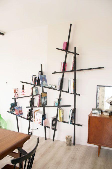 """7 tasseaux de 2,80 mètres, des vis à bois et 6 équerres en forme de """"U"""" = 42 €, j♥"""