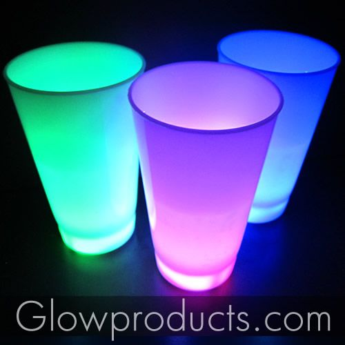 Glowing Party Cups - Great for the kids! - https://glowproducts.com/us/led-glow-party-cups