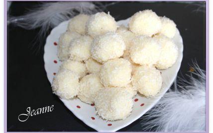 Recette - Truffes au chocolat blanc et noix de coco | 750g