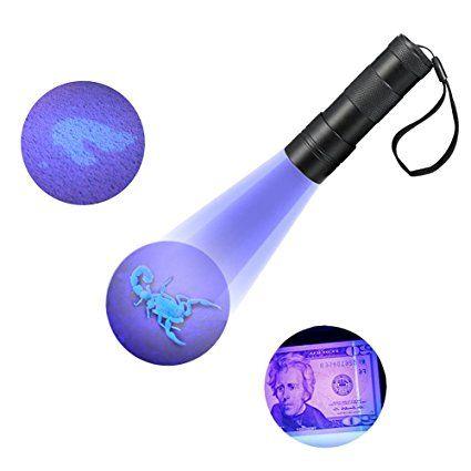 Refoss UV torcia elettrica, urina Pet & Macchie Detector, Scorpion Caccia Luce, luce ultravioletta 12 LED-Nero