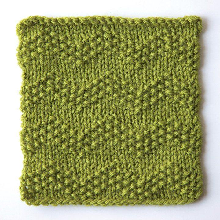 How to knit seeded chevron stitch