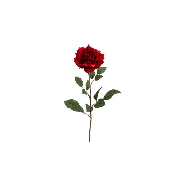 """26"""" Large Silk Rose Spray in Flame Brick   Silk Roses   Silk Flowers ($1.99) ❤ liked on Polyvore featuring home, home decor, floral decor, flowers, fillers, plants, roses, silk flower arrangement, flower home decor and flower stem"""