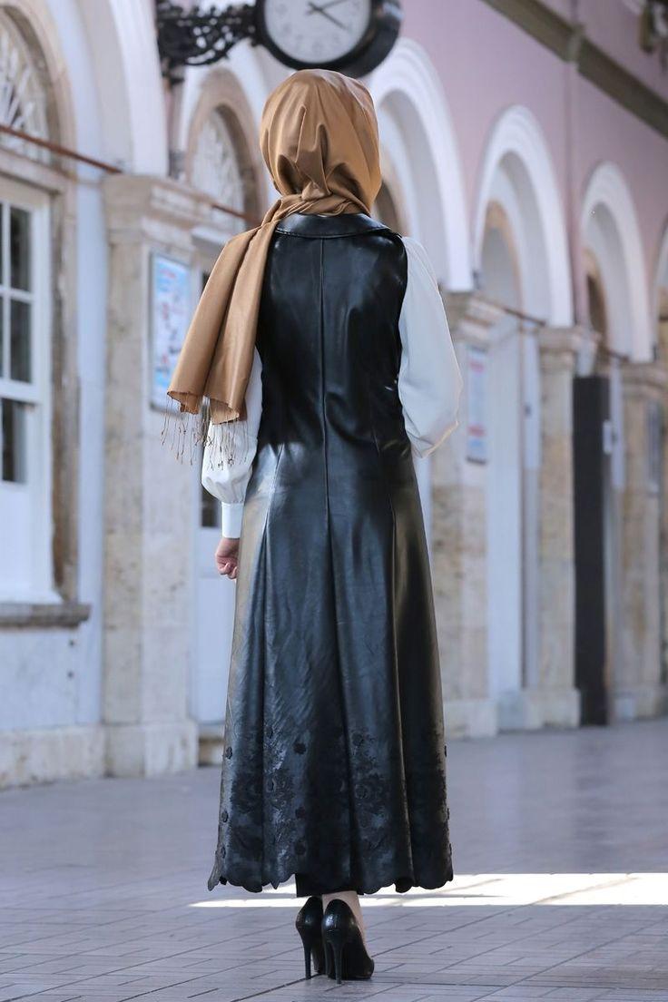Pınar Şems - Layd Deri Yelek Siyah