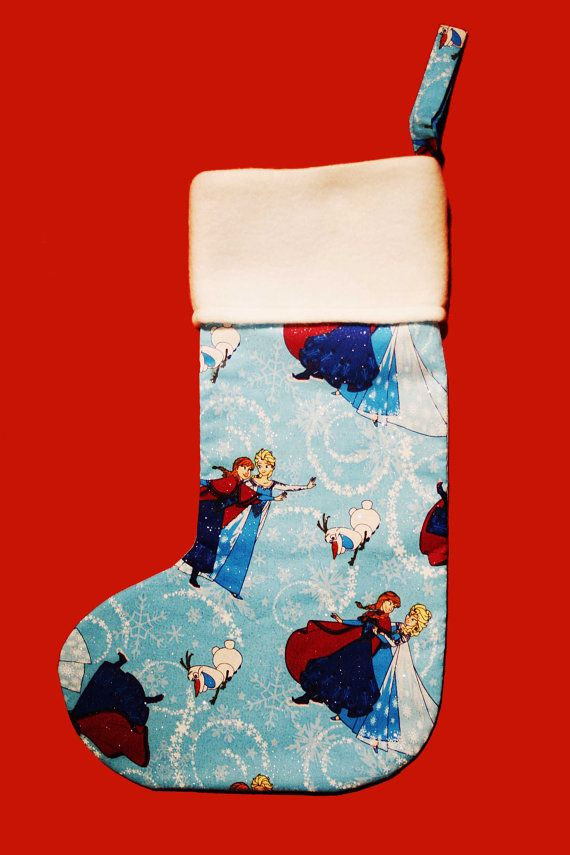 Frozen Christmas Stocking Christmas by BlossomvioletCrafts on Etsy