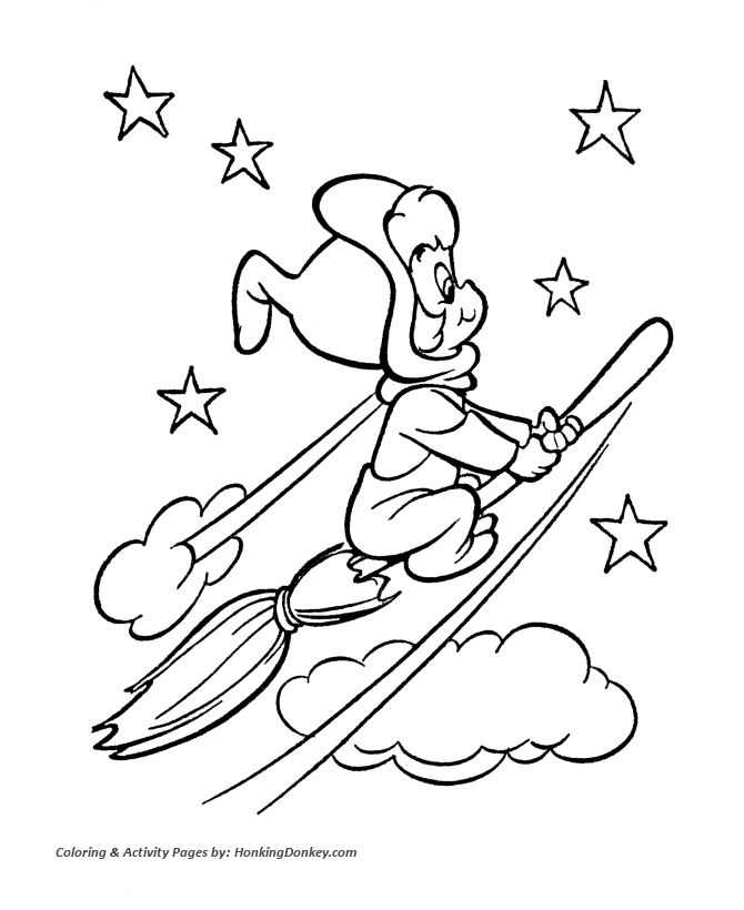 Coloring Pages For Halloween Witches : 137 best coloring easter & halloween images on pinterest