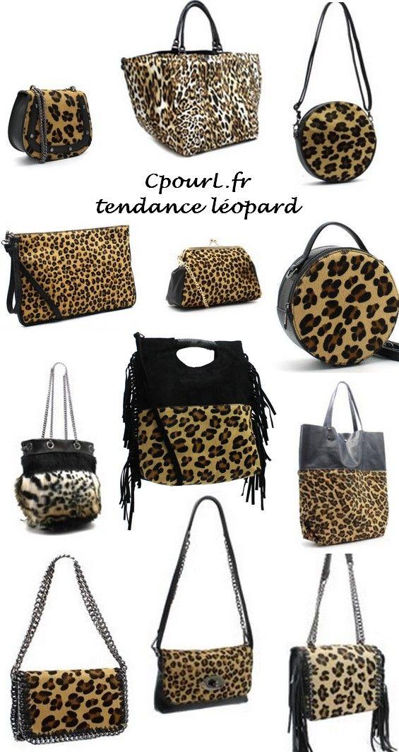 2d832d4fd6 sacs - pochettes - cabas - bandoulière - 100 % cuir - poil animal - Léopard  - Panthère - Zèbre - boutique en ligne CpourL.fr