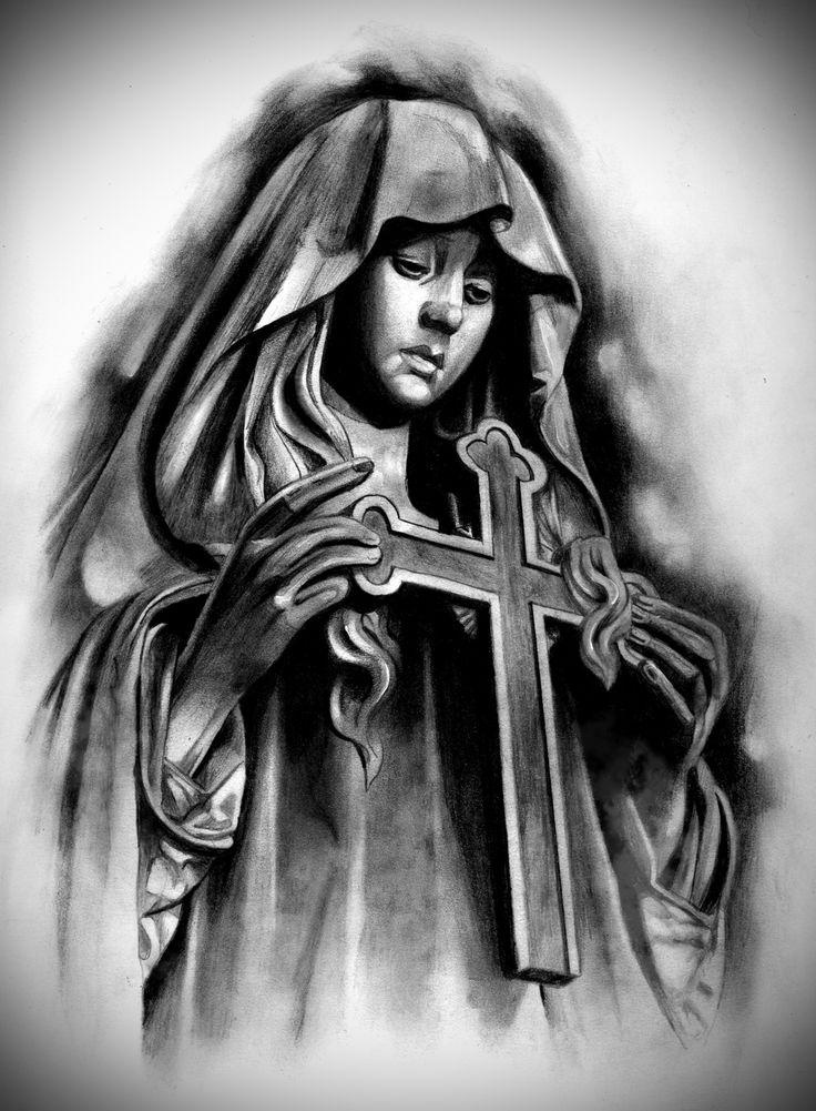 Tattoo Design | Virgin Mary by badfish1111.deviantart.com on @DeviantArt