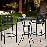 #9: 3 Piece Outdoor Bistro Set Bar Height -Black. This Traditional Patio Furniture is Stylish and Comfortable. Bistro Sets Compliment Your Patio, Deck Or Pool Area Perfectly. Patio Furniture Sets Of This Quality Last For Years.  https://www.amazon.com/Traditional-Furniture-Comfortable-Compliment-Perfectly/dp/B00NEB9YWM/ref=pd_zg_rss_ts_lg_16135379011_9?ie=UTF8&tag=a-zhome-20