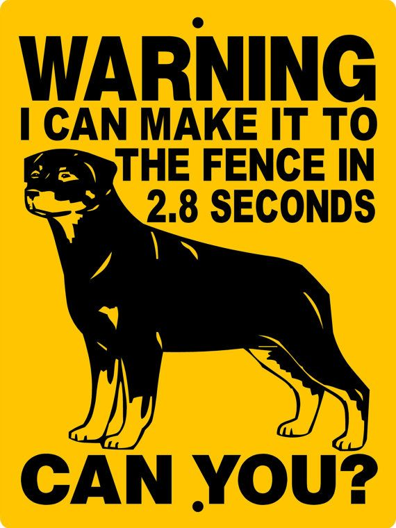 ROTTWEILER Dog Sign 9x12 ALUMINUM 2827BRCY by animalzrule on Etsy