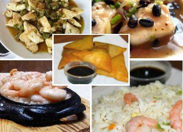 Menú Especial para 3B $28.100 2 Camarón Mandarín 1 Tepanyaki Camarón Ecuatoriano 1 Pollo Tausí 1 Pollo en Salsa Ostra 3 Arroz Chaufán Especial