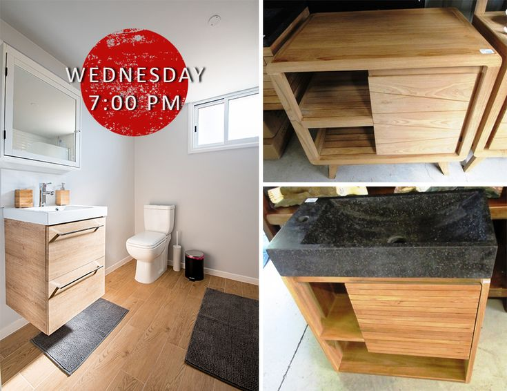 Bathroom Accessories CLEARANCE‼️ Includes a range of varnished timber slabs which are ideal for a bathroom vanity bench PLUS stone and marble basins, mirrors, cabinets and MORE for the bathroom www.lloydsonline.com.au/AuctionLots.aspx?aid=7875&utm_content=buffer0980b&utm_medium=social&utm_source=pinterest.com&utm_campaign=buffer