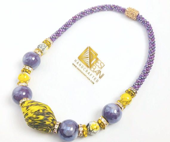 New recycled Beads African Krobo powder glass trade beads Fancy necklace Ghana