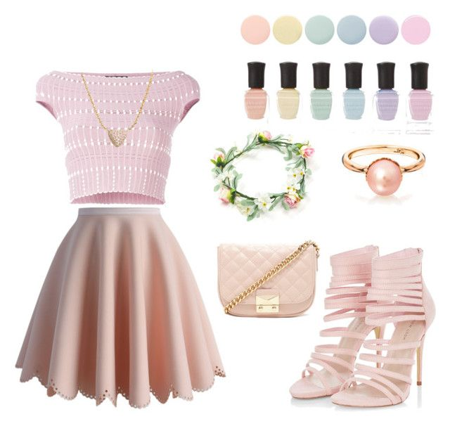 """The pink girl"" by anicute on Polyvore featuring Deborah Lippmann, Alexander McQueen, Chicwish, Forever 21 and Nadri"