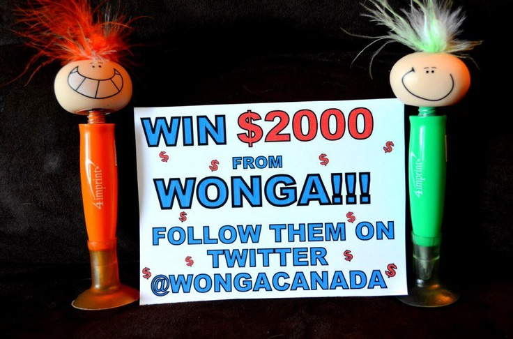 It's your last chance to win up to $2000! Follow @wongacanada and tweet:    I'm following @WongaCanada to win up to $2000! Are you? http://wonga.com/ #wongarace #contest #giveaway #win #sweepstakes  ENTER NOW: https://twitter.com/wongacanada    If we don't hit 2000 followers by Mar 28, we'll still give away $500 to one lucky follower on April 1!    Thanks to our fan Amanda for creating this sign for us!