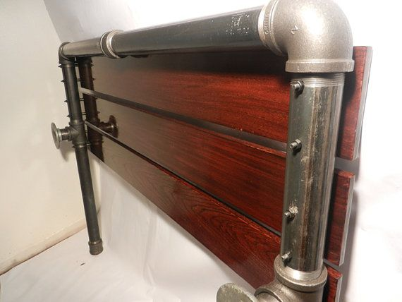 Industrial Pipe Headboard By Local3552 On Etsy Bedroom