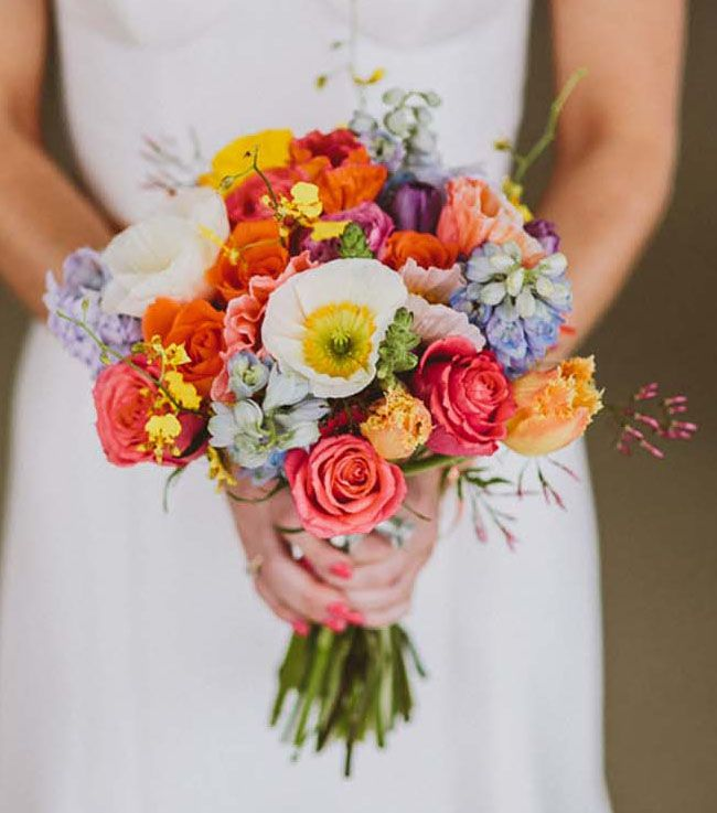 colorful poppy bouquet