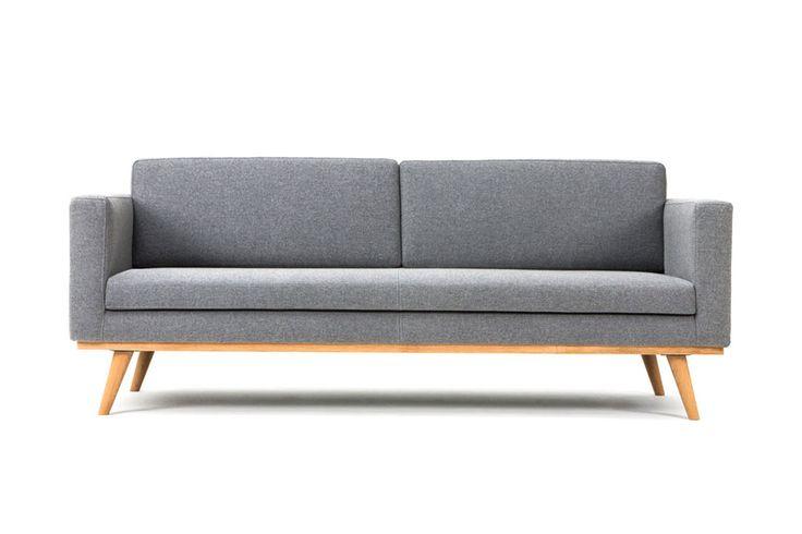 Sofa company - Johan, 3-seater sofa, Andie light grey 800 euro