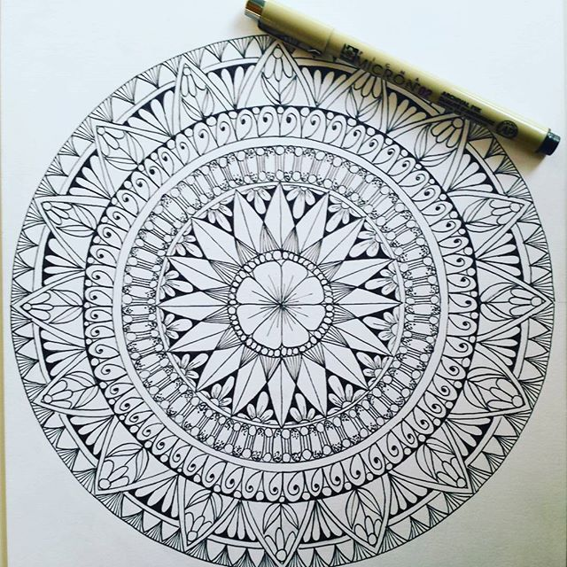 A new mandala page for HCI Books' latest Inkspiration #coloring book, due out…