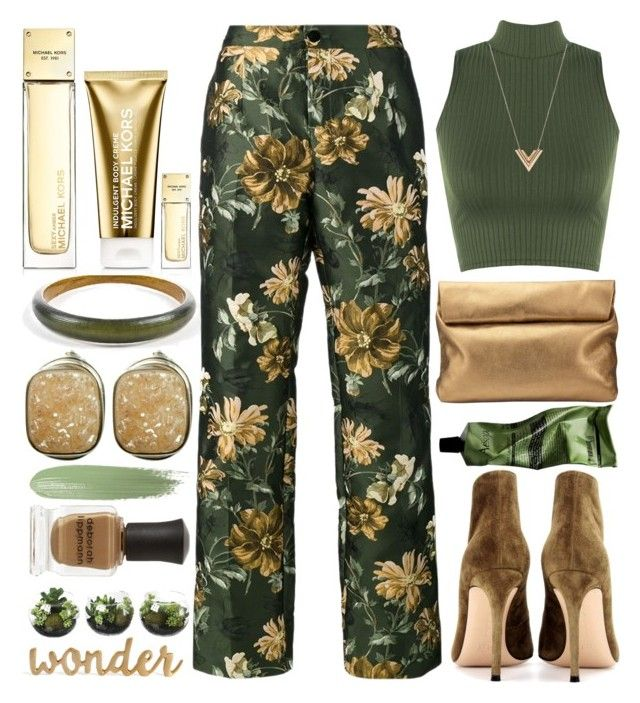 """""""Floral Pants"""" by grozdana-v ❤ liked on Polyvore featuring Alexis Bittar, F.R.S For Restless Sleepers, WearAll, Jigsaw, Michael Kors, Deborah Lippmann, Gianvito Rossi, Aesop and Louis Vuitton"""
