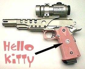 Hello Kitty gun.