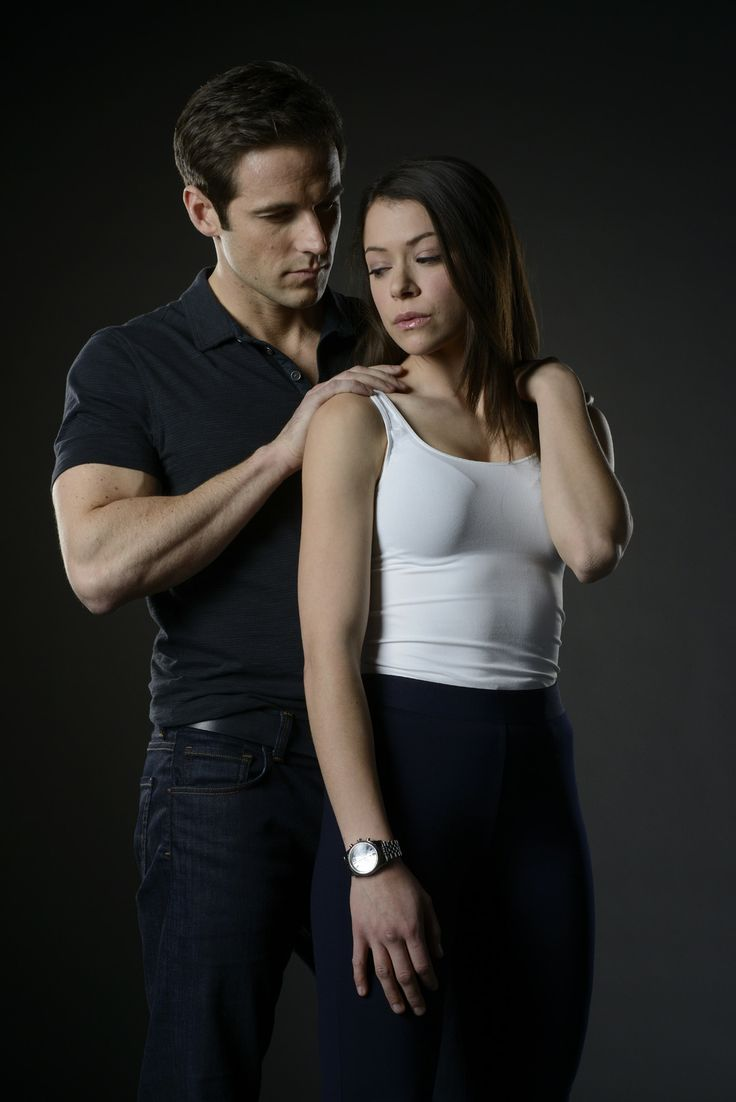 Orphan black- Paul (Dylan Bruce) y Sarah (Tatiana Maslany)