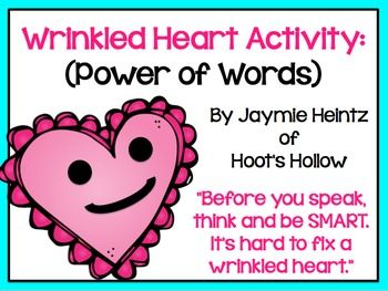 This Wrinkled Heart activity is FANTASTIC for the beginning of the school year, or any time during the year when you need to have a quick, simple, and effective way to discuss the consequences and lasting effects of our words.