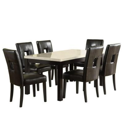 B0001BMYHA additionally Alana Mahogany Table Set Six Tw in addition Id F 742757 in addition 112029975860 likewise Fireplaces Fire Pits. on 5 piece dining set