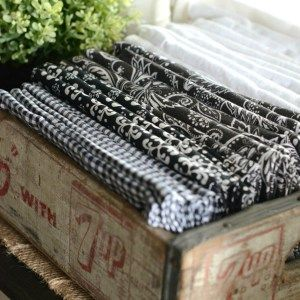 STORING THINGS FARMHOUSE STYLE-napkins in crate-stonegableblog.com