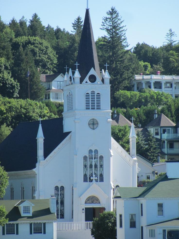 Friends got married here! Church on Mackinac Island, MI # ...