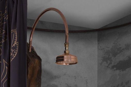 Small flat copper shower head