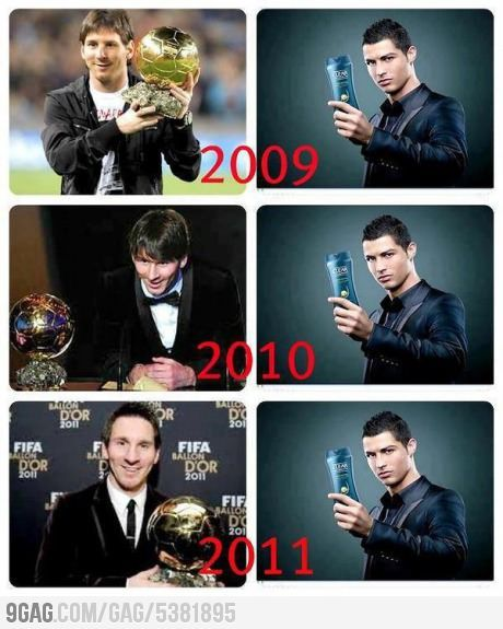 See the difference: Messi vs Ronaldo