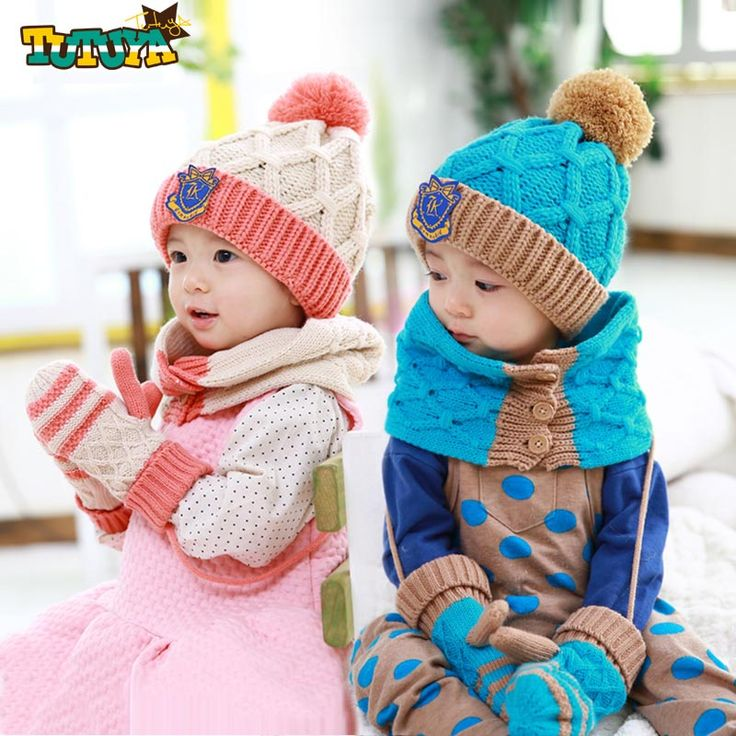 2015 Fashion New Winter 5-Star Children Skullies & Beanies Scarf Hat Set Baby Boys Girls Knitted kids Hats & Caps Free shipping