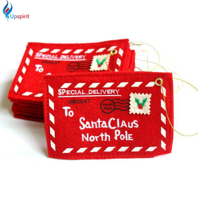 Rosso 5 pz o 10 pz Busta Biglietti Di auguri Di Natale Candy Bag Di Natale Regali Di Natale Perfetto Per Gli Amici Rifornimenti Di Natale