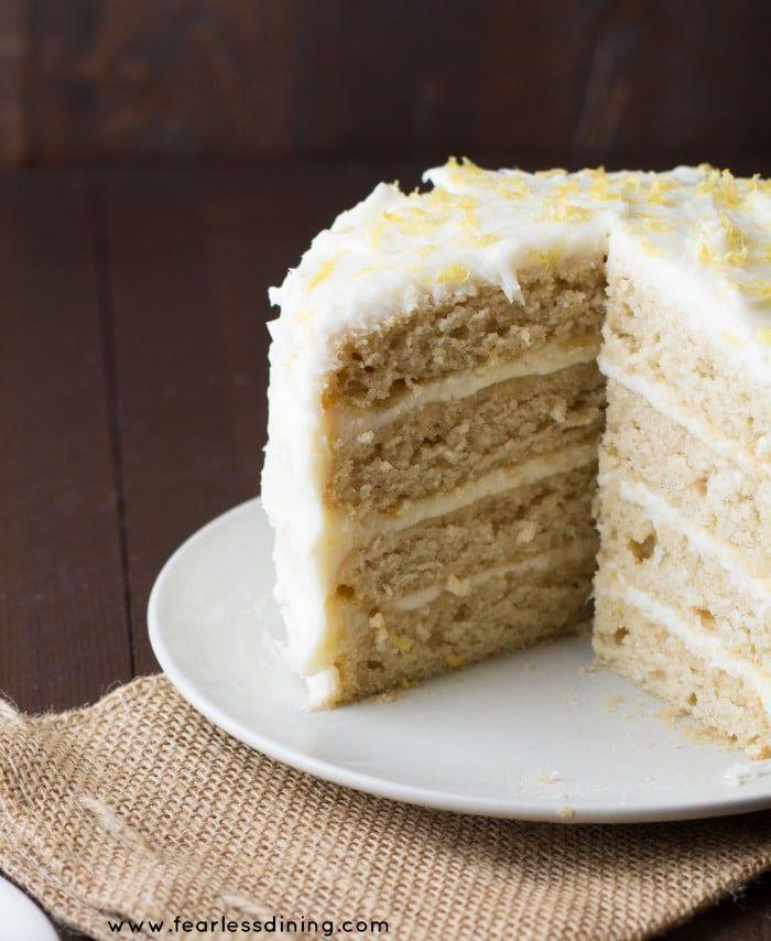 Gluten Free Lemon Curd Cake