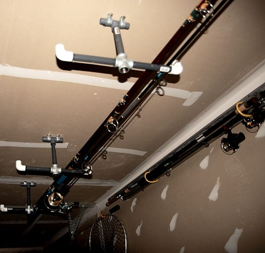 1000 ideas about fishing pole craft on pinterest kids for Homemade fishing rod holders for garage