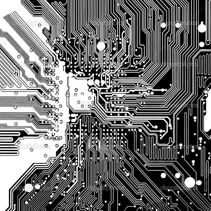 Carte de circuit informatique en vecteur