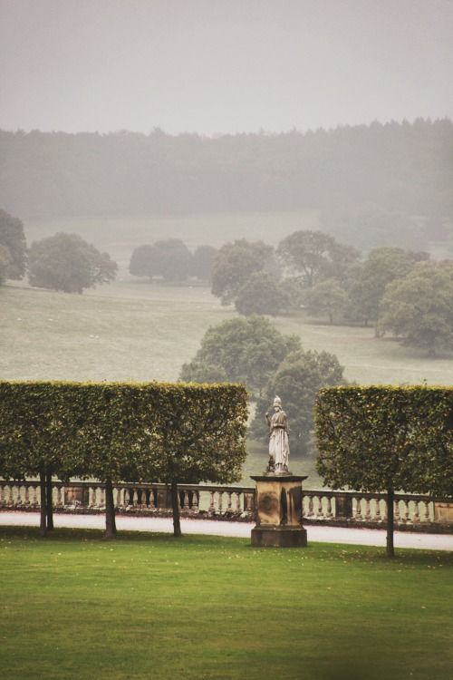 the grounds at chatsworth house, derbyshire