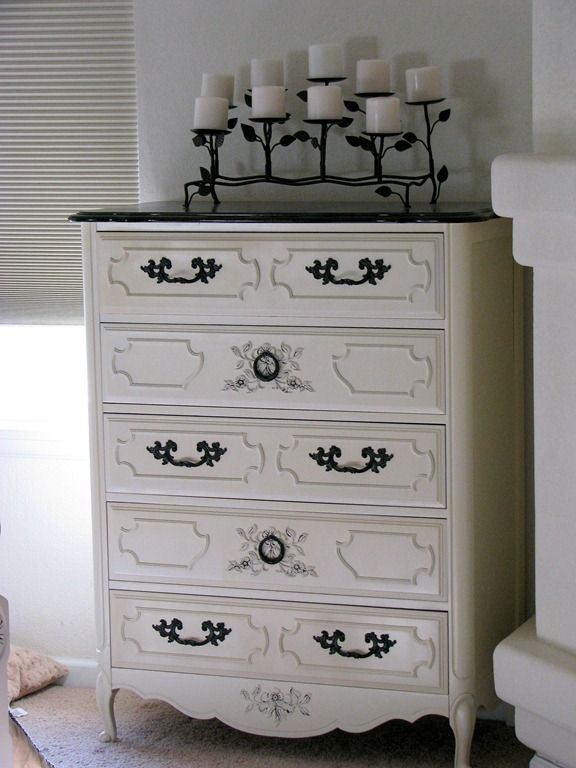 White and brown furniture