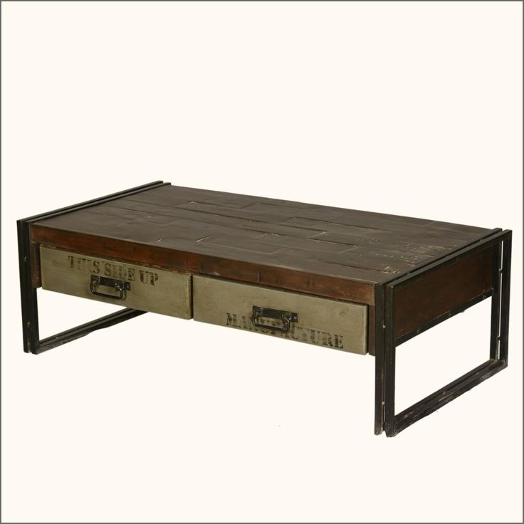 Crafted With An Industrial Feel This Philadelphia Modern Rustic Reclaimed Wood Amp Metal Coffee