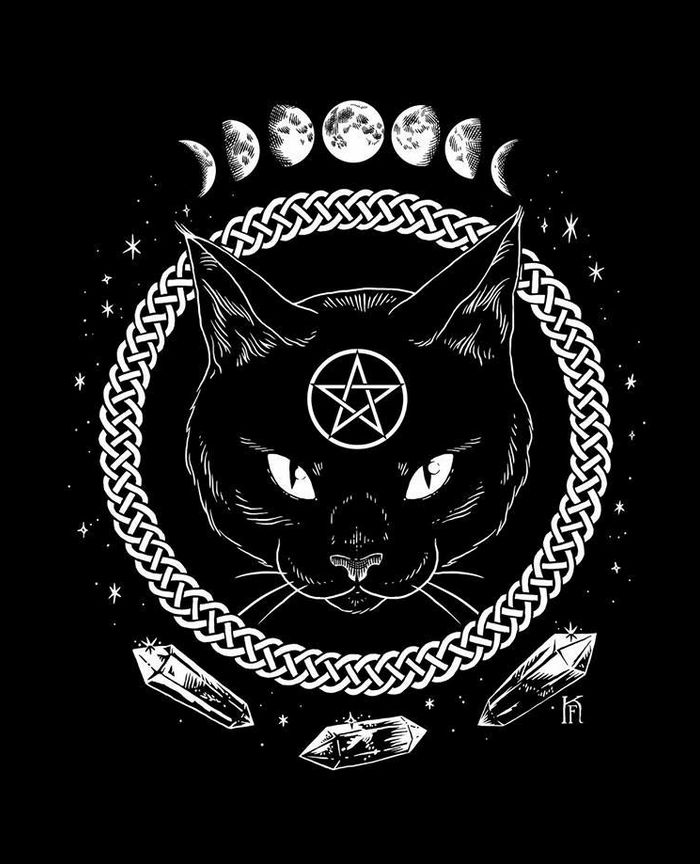 black #cat #alchemy #PhasesOfTheMoon