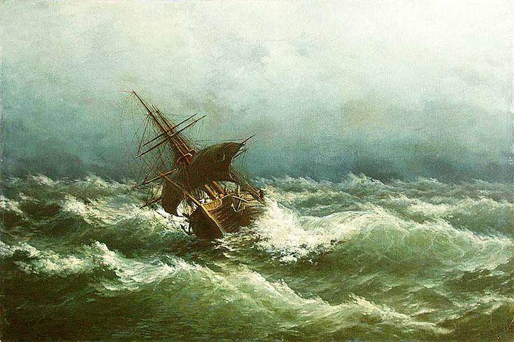 Море - одна из самых приятных слабостей:) Руфин Судковский «Буря на море»