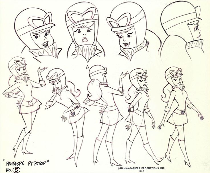 Art by William Hanna* &  Joseph Barbera*  | ©  Hanna-Barbera Productions, Inc. • Info | (https://www.wikipedia.org/wiki/Hanna-Barbera)  ★ || CHARACTER DESIGN REFERENCES™ (https://www.facebook.com/CharacterDesignReferences & https://www.pinterest.com/characterdesigh) • Love Character Design? Join the #CDChallenge (link→ https://www.facebook.com/groups/CharacterDesignChallenge) Share your unique vision of a theme, promote your art in a community of over 50.000 artists! || ★