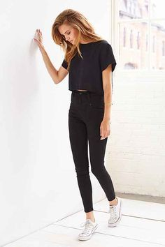 BDG Seamed High-Rise Jean - Black - Urban Outfitters have those jeans and love them :)