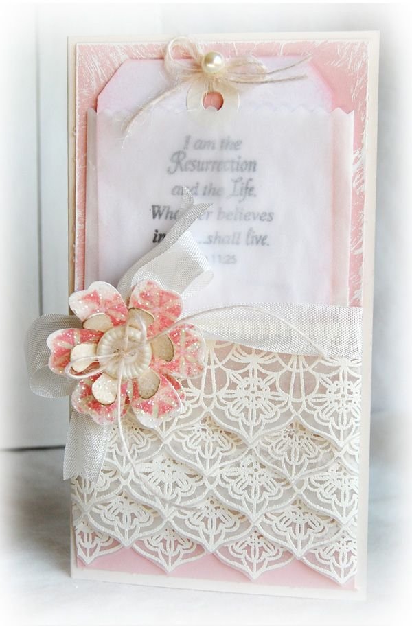 Card Making Ideas Using Vellum Part - 36: Love The Lace Stamped Vellum